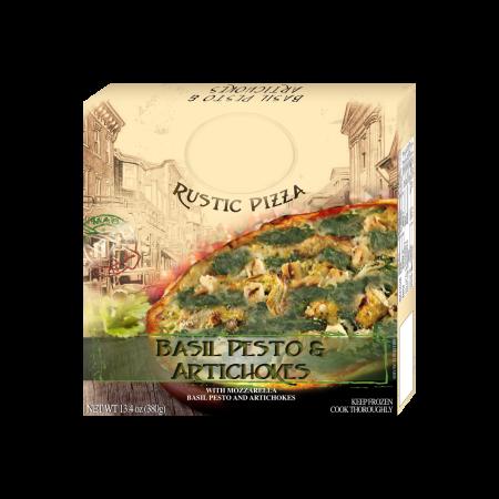 Pizza Basil pesto & Artichokes