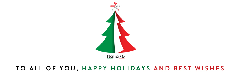 happy holidays and best wishes from italia76 for new year 2017